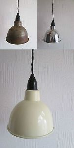 Dome industrial factory enamel Vintage Retro Old Style pendant light lamp shade